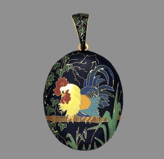 Rooster pendant, Japanese style
