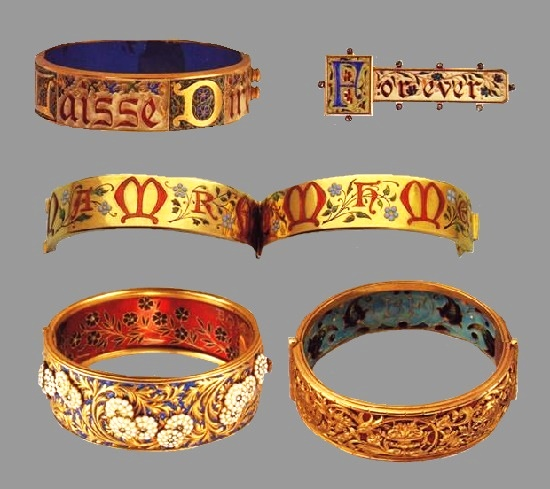 Series of bracelets with engraving