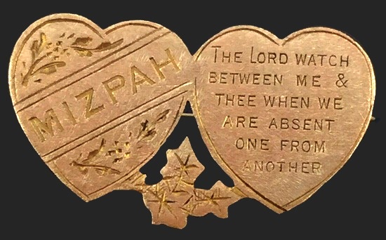 Victorian era Mizpah jewelry with sense