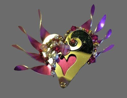 Wild heart pin. 1996