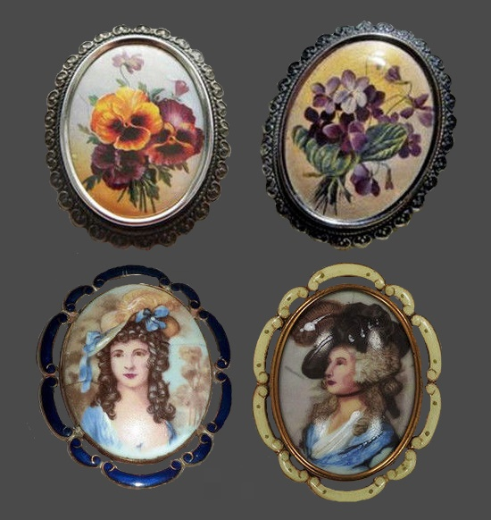 Series of brooches