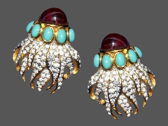 Eternal Flame Clip Earrings