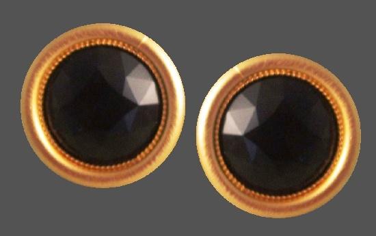 Matte gold round shaped cufflinks