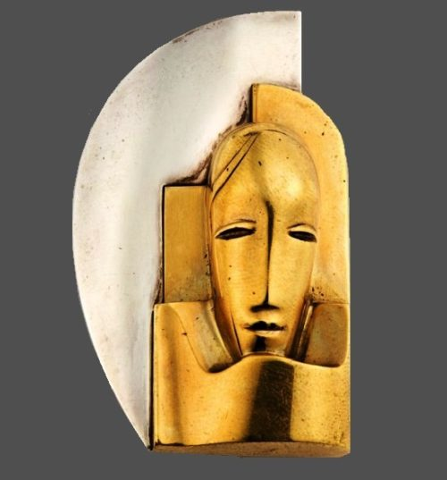 1942 Brooch. In collaboration with the Hungarian sculptor Gustave Miklos