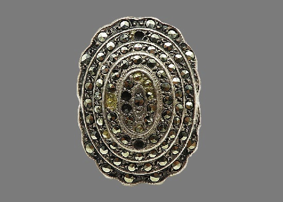 Marcasite sterling silver ring