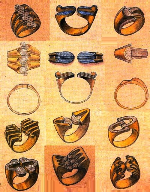 Jewelry design drawings