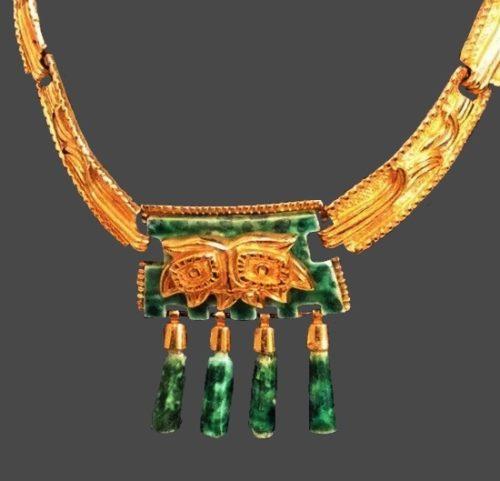 Aztec Gold Tone Necklace