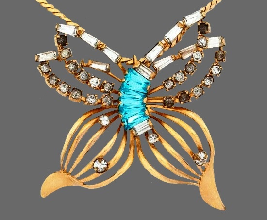 Butterfly brooch pin. 12 K Gold filled, before 1940