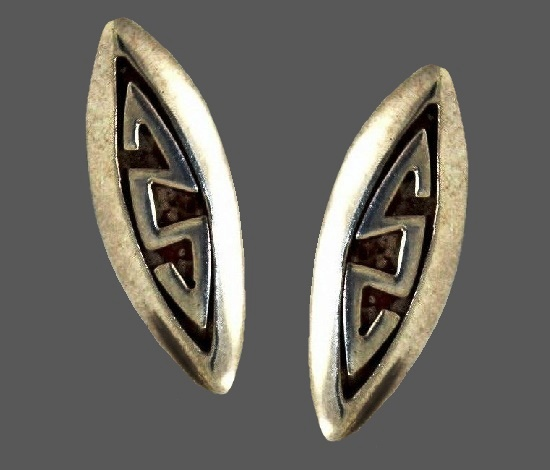 Modernist design sterling silver cufflinks. 1955