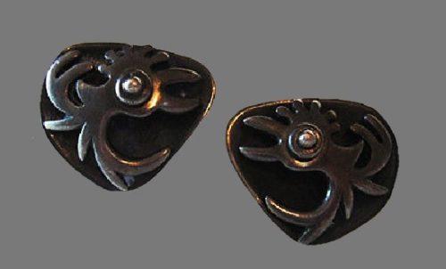Rooster cufflinks. Sterling silver