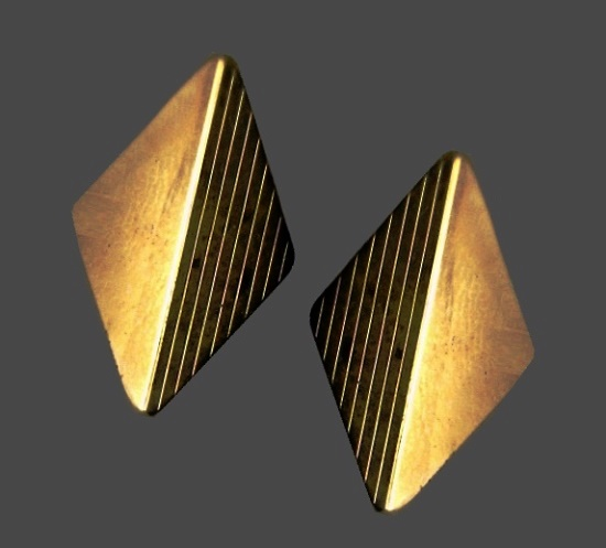 12k Yellow Gold GF Diamond Shaped Cufflinks