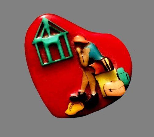 Coming home heart pin