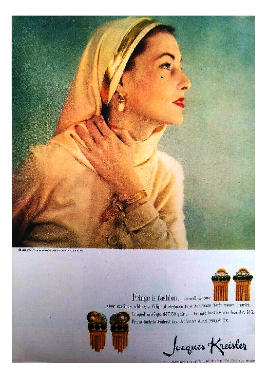 Fringe is fashion Retro ads, 1946
