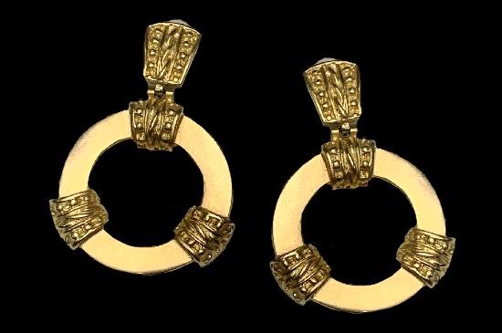 Gilt Metallic Clip-On Statement Earrings