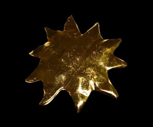 Large Sun Burst Modern Abstract Gold Tone Pin