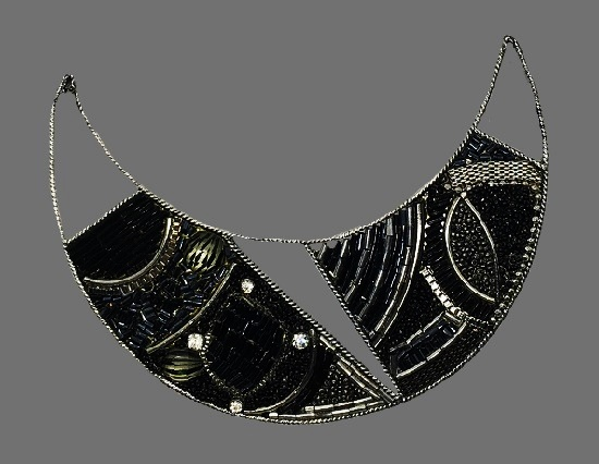 Lead and nickel safe Black Silver Necklace