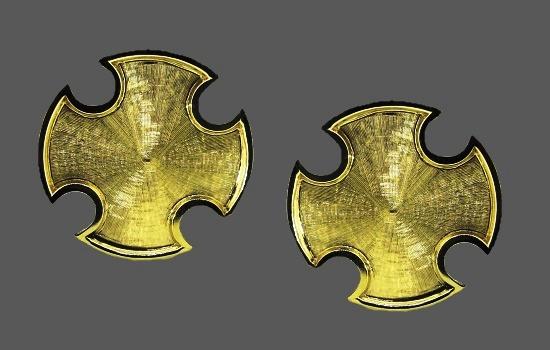 Maltese cross cufflinks. 14k Yellow Gold
