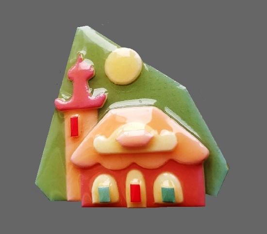 Marshmallow house. bijouterie plastic, acrylic. 5.5 cm. 1985