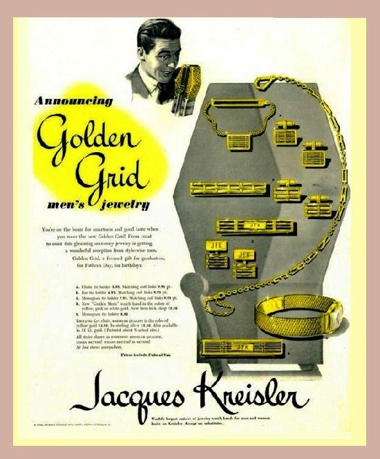 Men's jewelry ads. 1948