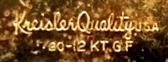 Signed Kreisler quality USA 12 Kt GF