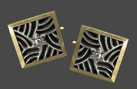 Star and web cufflinks. 14 Gold filled