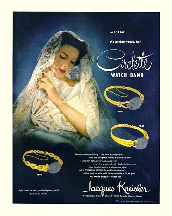 The 1948 ads featuring collection 'Circlette watch band'