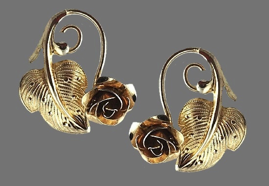 Beautiful rose gold plated sterling silver earrings