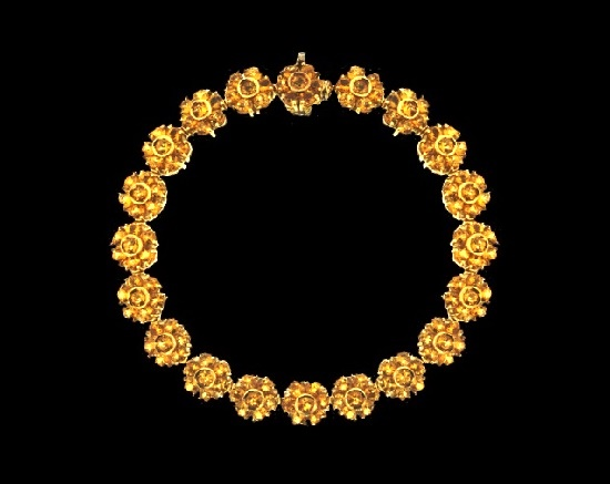 Bracelet of 18kt Yellow Gold and Citrine