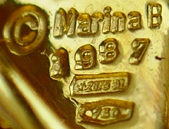 Hallmarked Marina B 1987