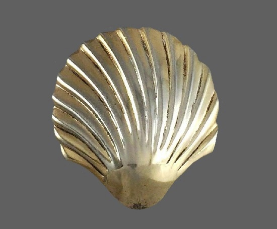 Shell brooch. Sterling silver