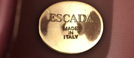 Signed Escada made in Italy