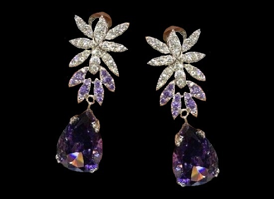 Very beautiful Pasquale Bruni earrings from the collection 'Garlands'. Silver 925, zircons