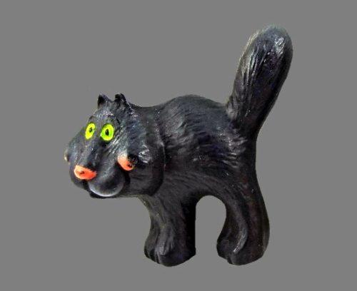 Black Cat Lehman design vintage pin