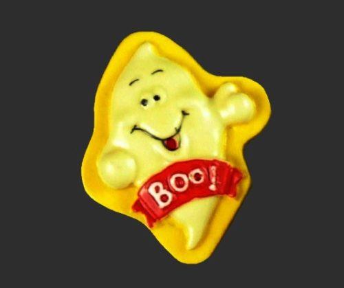 Boo Ghost yellow brooch pin