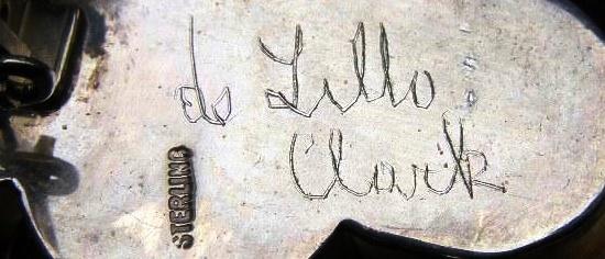 De Lillo Clark sterling signed