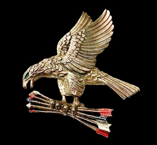 Eagle brooch. Patented in 1940
