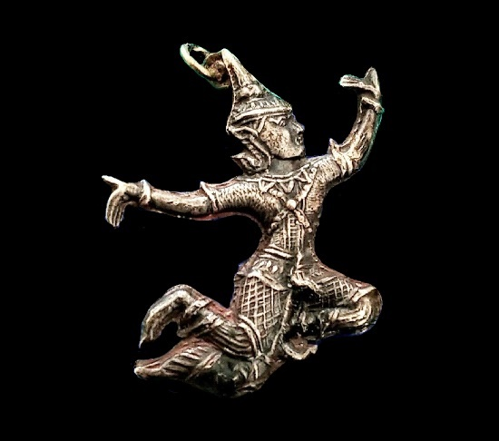 Folk dancer charm. Sterling silver