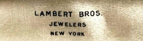 New York jewelers Lambert brothers