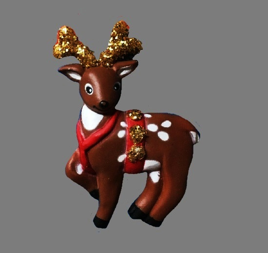 Reindeer Christmas pin