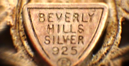 Stamped Beverly Hills Silver 925