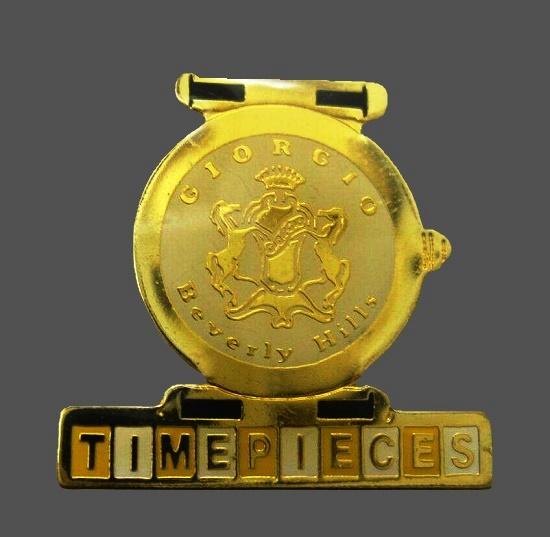Time Pieces Basel 1993 Lapel Pin of gold tone