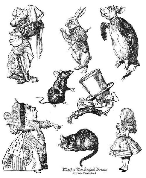 Alice in Wonderland illustrations which inspired the jeweler