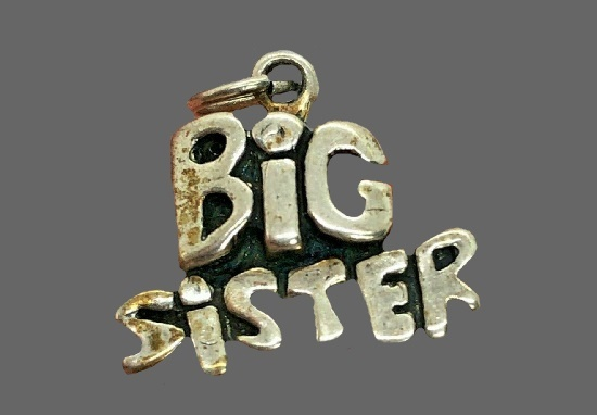 Big sister 925 sterling silver charm