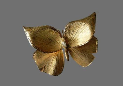 Butterfly brooch. 12 K gold filled