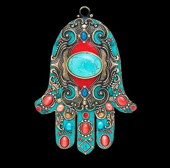 Hand of Fatima Hamsa symbolic jewelry