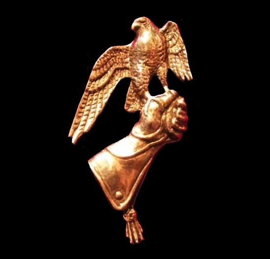 Falcon badge brooch