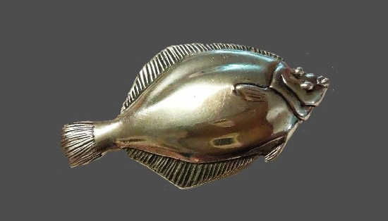 Fish Brooch. Sterling silver
