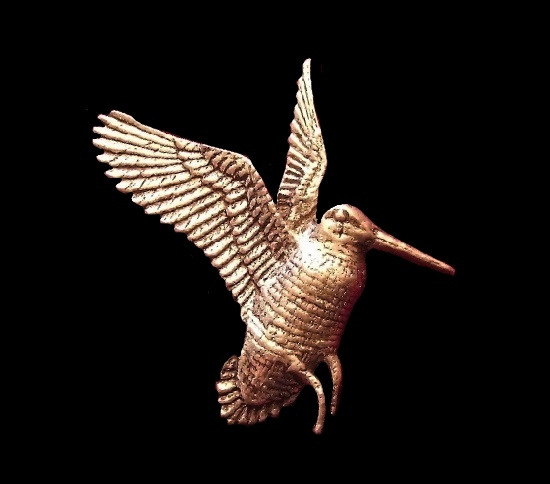 Flying Woodcock Brooch