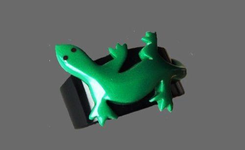 Green lizard bakelite bracelet