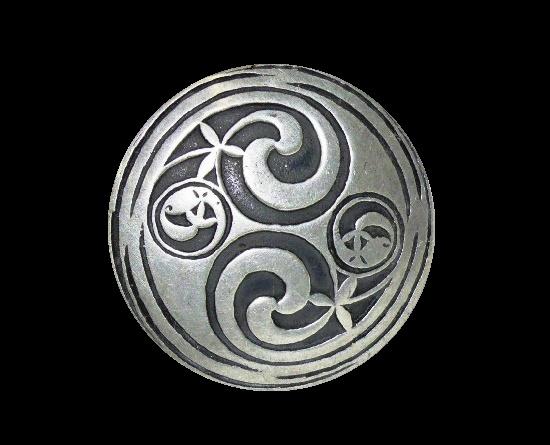 Lindisfarne Gospel design brooch